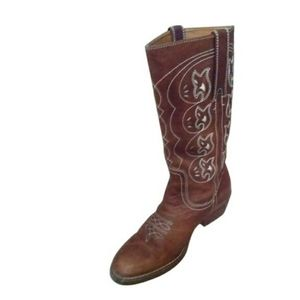 Nicole Brown Leather Cowboy Boot Sz 10M